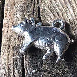 4 for $25 Pig Pendant Charm for Crafting